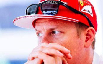 Kimi Räikkönen ei päässyt ajamaan omaa vauhtiaan
