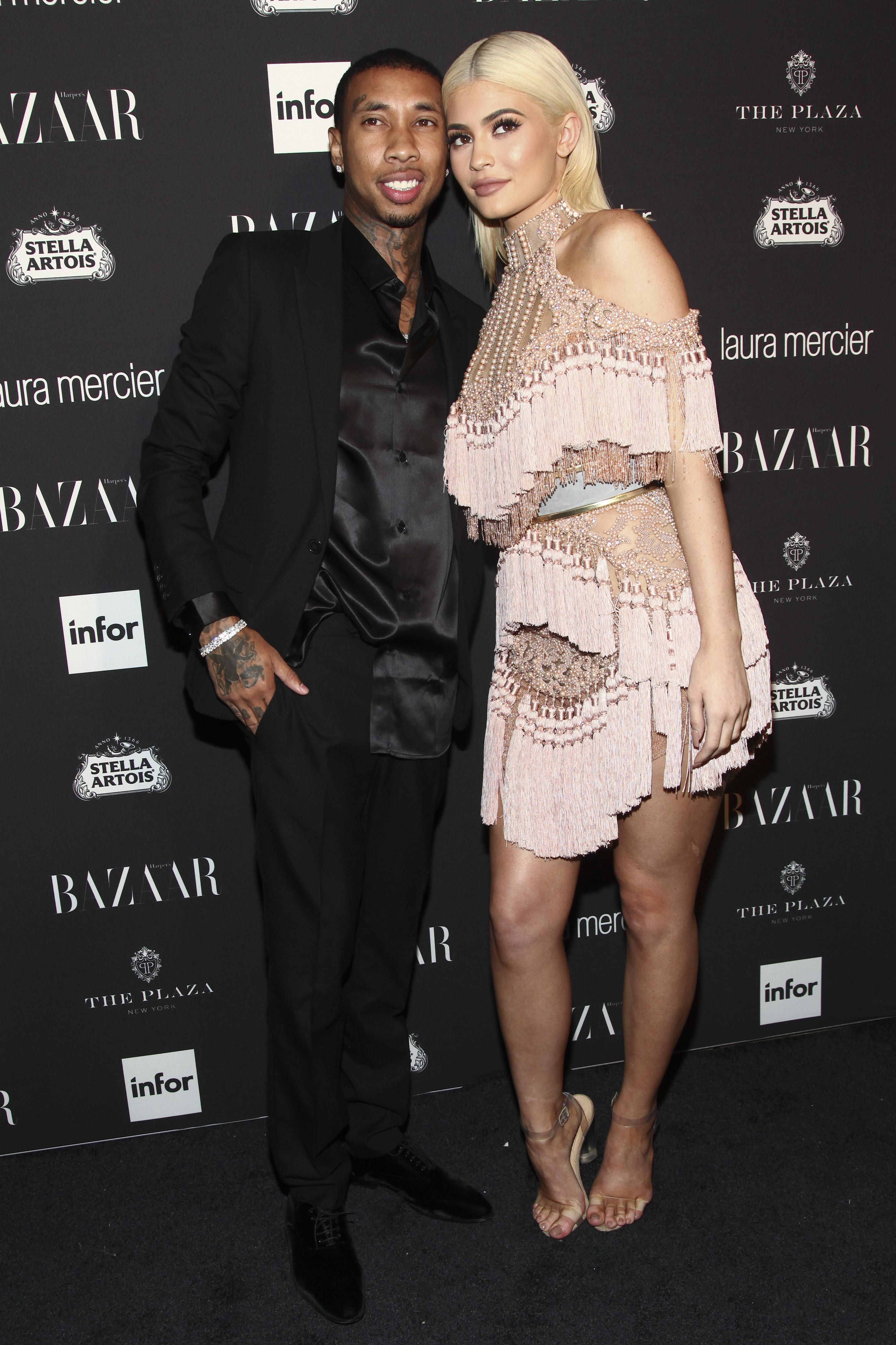 Tyga ja Kylie Jenner (Andy Kropa/ TT NYHETSBYRÅN/ Invision/AP Photo/ Scanpix)