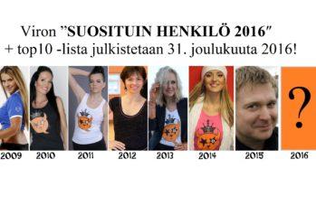"""Virossa valitaan suosituin henkilö jo kahdeksatta vuotta peräkkäin. """"Suosituin henkilö 2016"""" julkistetaan 31. joulukuuta!"""