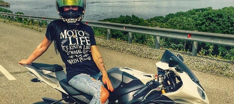 TRAGEDIA: Venäjän seksikkäin moottoripyöräilijä Olga Pronina ajoi itsensä hengiltä