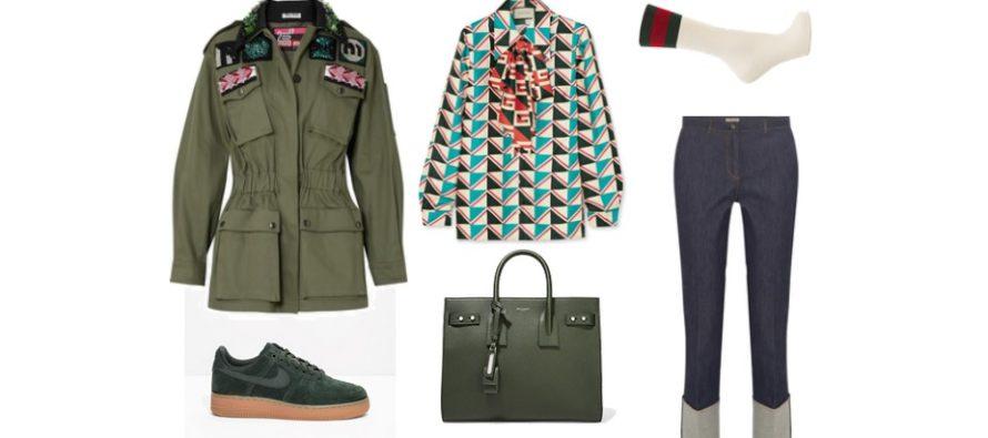 LUXURY shopping – Navy green päivittäiseen käyttöön (Look #3)