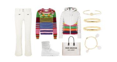 LUXURY shopping – Urheilullinen, raidallinen & valkoinen setti (Look #6)